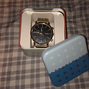 Stainless steal Fossil watch (Luther)